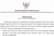 Pengumuman Rapid Test Antigen Peserta SKD CPNS dan PPPK Guru Kabupaten Banggai Kepulauan Tahun 2021